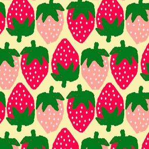 Strawberries Neatly creamy yellow