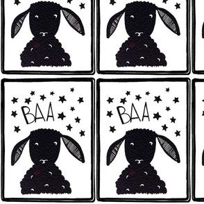 Baa baa black sheep pillow
