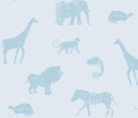 Animal Blues fabric by studiojelien on Spoonflower - custom fabric
