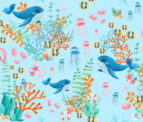 Marine Life fabric by bags29 on Spoonflower - custom fabric
