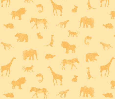 Animal Dessert fabric by studiojelien on Spoonflower - custom fabric