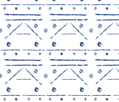 Geometric Blue  fabric by svaeth on Spoonflower - custom fabric