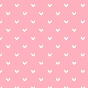 White Hearts on Pink - Ashburton Coordinate for Girls GingerLous