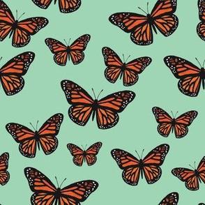 Monarch Butterflies Pool Blue