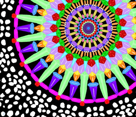 Gemstone Mandala fabric by whimsicalvigilante on Spoonflower - custom fabric