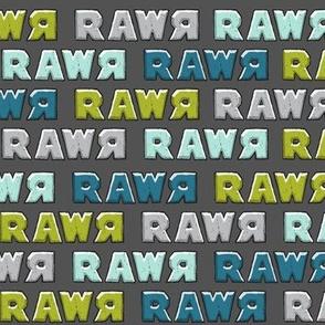 modern dino - multi rawr - RAWR (dark grey)