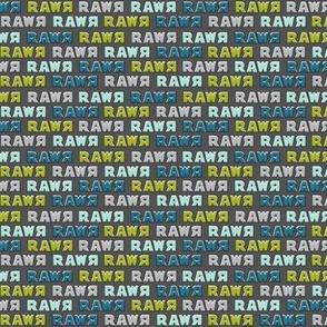 (extra small scale) modern dino - multi rawr - RAWR (dark grey) C18BS