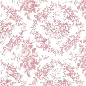 Lady Mary's Roses Pink Floral Toile
