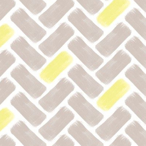 Gray and Yellow Herringbone
