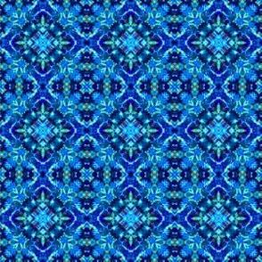 Blue Kaleidoscope Tie Dye