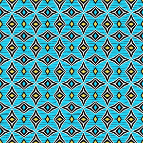 Tribal Diamond Gems Blue