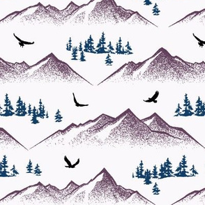 Eagle Mountain // Finn Violet on Whisper White // Small