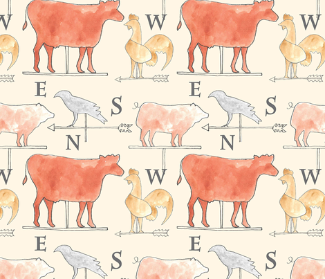 Farm Animals fabric by cathleenbronsky on Spoonflower - custom fabric
