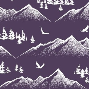 Eagle Mountain // Royal Purple // Large