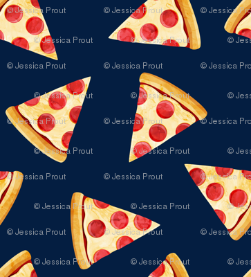 pizza slice (navy) food fabric