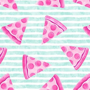 pizza slice (pink) food fabric