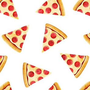 pizza slice (white) food fabric