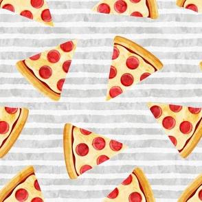 pizza slice (light grey stripes) food fabric