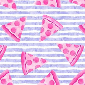 pizza slice (purple stripes) food fabric