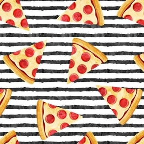 pizza slice (black stripes) food fabric