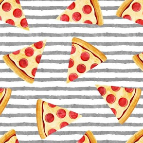 pizza slice (grey stripes) food fabric
