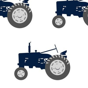 (jumbo scale) tractors - navy and dusty blue farm collection - C18BS