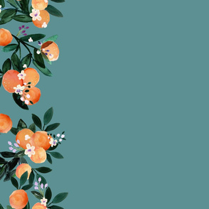 DearClementine teal oranges border
