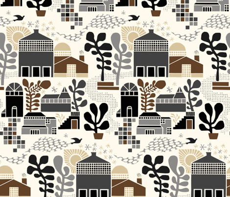 Modern Farmhouse fabric by vickykatzman on Spoonflower - custom fabric