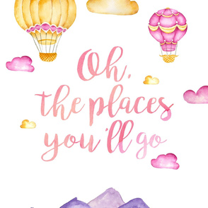 """27x36in """"Oh the Places"""" (girl version)"""
