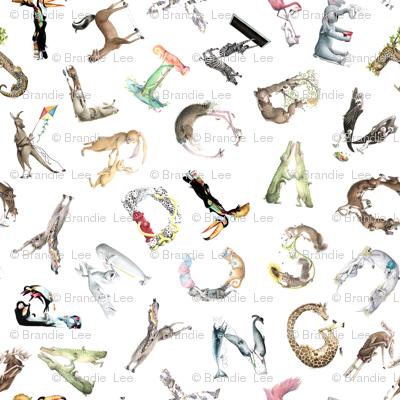 "Animal ABCs - Small LaughABit Alphabet by BirdsFlyOver 3.5""-4"" letter size"