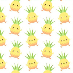 Happy pineapple kids white