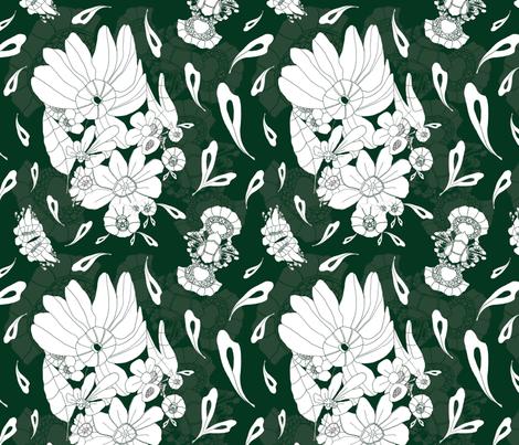 Marc - Dark Green fabric by hannyhoney on Spoonflower - custom fabric