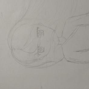 Anime style wind girl