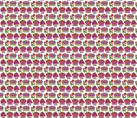 zinnia baskets 2x2 fabric by leroyj on Spoonflower - custom fabric