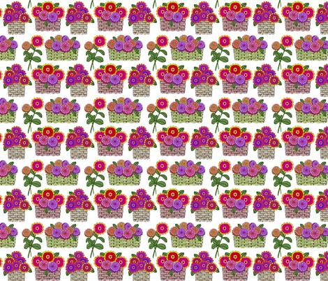 zinnia baskets 4x4 fabric by leroyj on Spoonflower - custom fabric