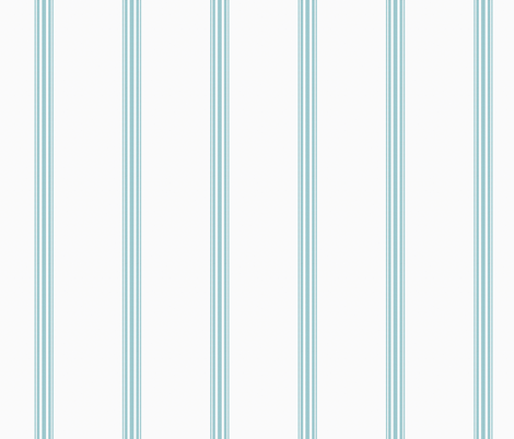 Duck egg blue ticking stripe fabric by jenlats on Spoonflower - custom fabric