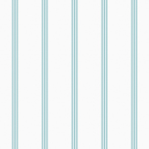 Duck egg blue ticking stripe