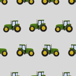 tractor farm nursery pattern with tractors grey