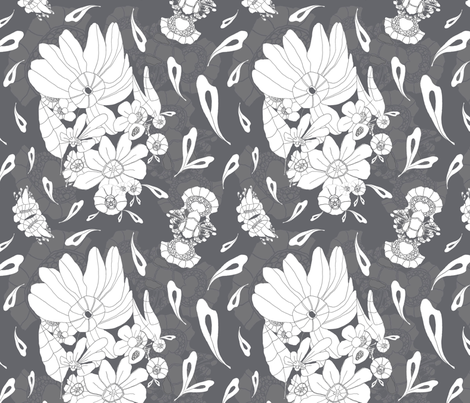 Marc - Grey fabric by hannyhoney on Spoonflower - custom fabric