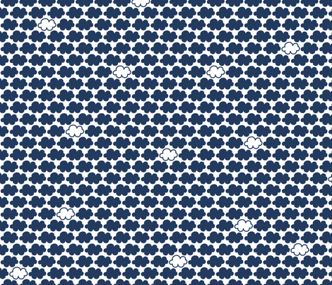 clouds navy || sugared spring fabric by misstiina on Spoonflower - custom fabric