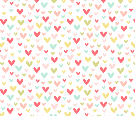 scattered hearts || sugared spring fabric by misstiina on Spoonflower - custom fabric