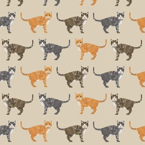 cats tabby cat fabric cute gifts for cat lovers tan