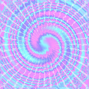 3 tie dye psychedelic rave music festivals neon pink blue spirals watercolor pop art hippies