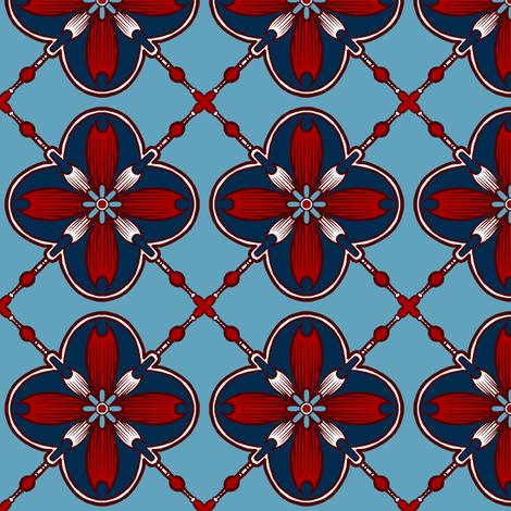 Shield Tile 1 fabric by jadegordon on Spoonflower - custom fabric