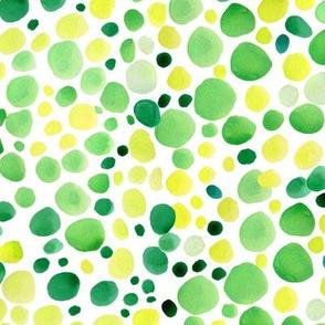 Greenery polka dot small scale