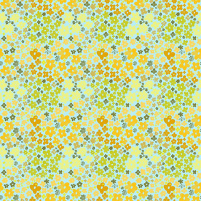Honeysuckle Pattern 3in sq