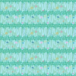 Green Pattern 3in sq
