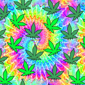 1 tie dye rainbow colourful psychedelic rave music festivals weed marijuana cannabis drugs 420  ganja plants leaves leaf neon pink blue green spirals watercolor pop art hippies april 20