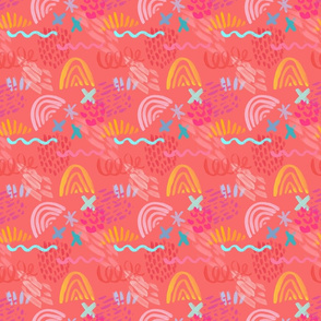 Guava Passionfruit pattern 3in sq