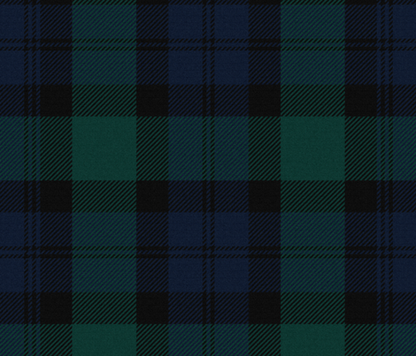 Blackwatch Tartan ~ Traditional ~ Textured   fabric by peacoquettedesigns on Spoonflower - custom fabric